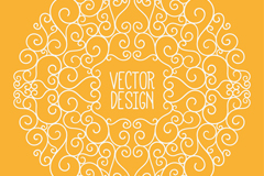 Creative white circular pattern vector
