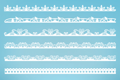 9 white pattern vector