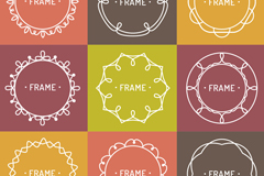 9 color pattern frame vector