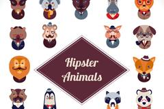 20 stylish animal avatar vector illustration