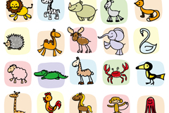25 painting animals vector