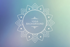Fuzzy Yoga background pattern vector