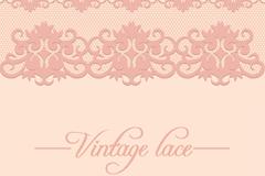 Vintage lace design vector