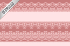 Bean pink lace pattern vector background illustration
