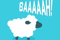 Cartoon black sheep design vector graph