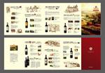 Wine business product brochure vector
