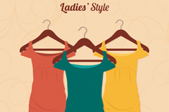 Fashion Lady dress vector