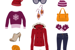 12 women's clothing and accessories for vector graphics