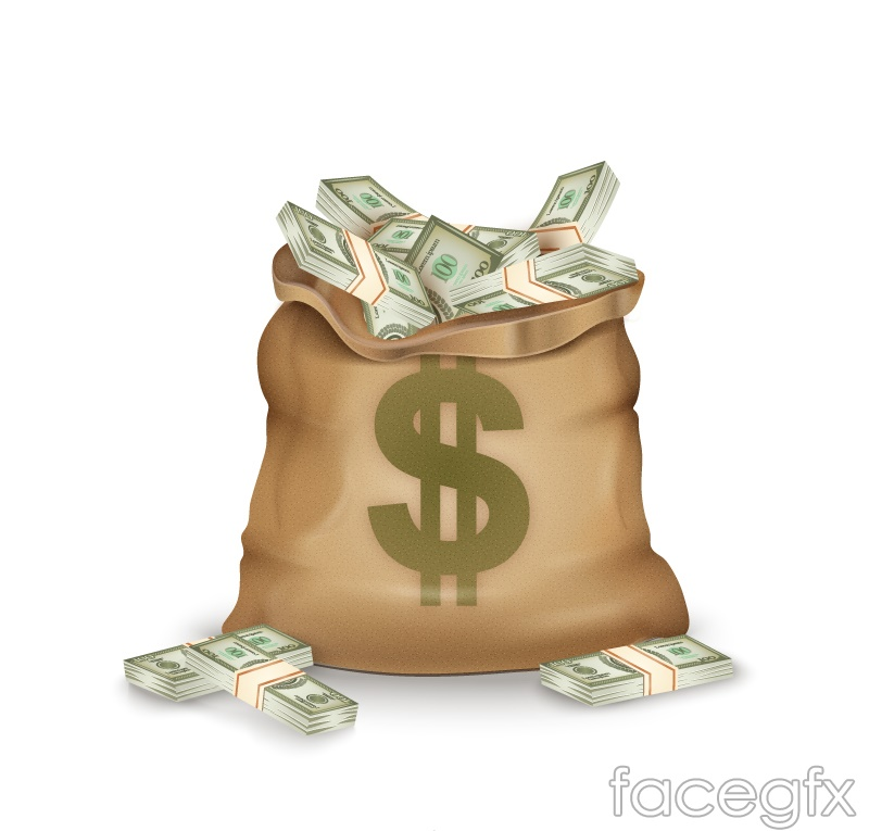 Money Bag Marked With A Dollar Sign Vector Free Download