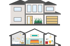 Creative housing profile vector