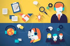 3 Advisory services banner vector diagrams