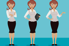 3 Office ladies vector