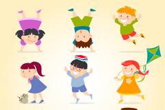 9 children vector