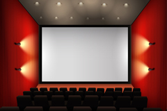 Beautiful movie theater Auditorium vector