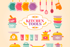 22 color kitchen design vector graph