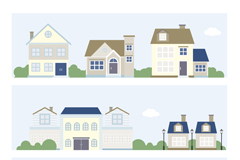 3 cartoon construction banner vector
