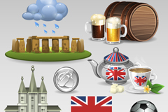 8 United Kingdom element vector