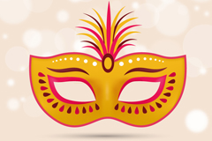 Beautiful golden mask vector