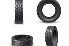 4 beautiful rubber tyre vector diagrams