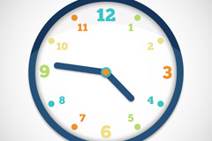 Color dial clock vector