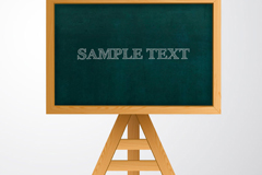 Vertical wooden Blackboard vector graphics