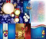 Christmas hanging ball background vector
