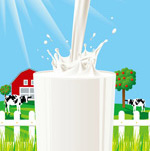 Fresh milk poster vector
