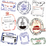 In different countries the postmark vector