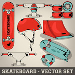 Skateboarding element design vector