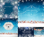Christmas snow scene vector