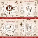 European-style Christmas decorations vector