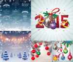 Christmas and new year ideas vector