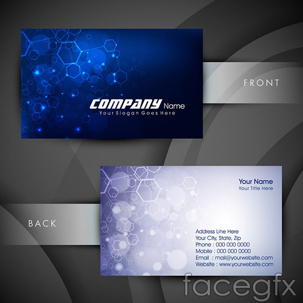 Technology business card design vector | Free download