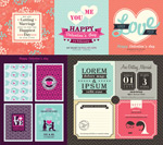 Valentine's Day theme design vector