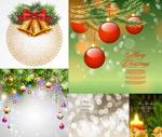 Christmas ball candles vector