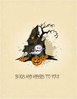 Halloween cartoon Castle vector