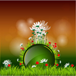 Painted floral illustration vector