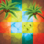 Palm tree color backgrounds vector