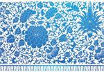 Blue flower pattern vector