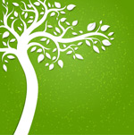 Green paper-cut background vector