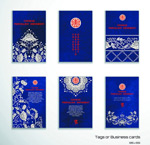 Traditional patterns card vector