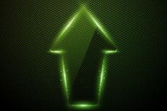 Crystal-textured arrow vector