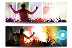Current music people silhouettes vector
