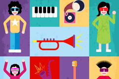 Creative trend music background vector