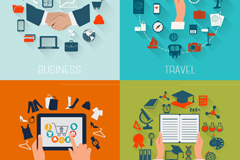 Business and education travel logo design vector