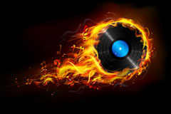 Flame music vector