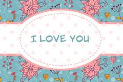 Decorative Valentine card vector