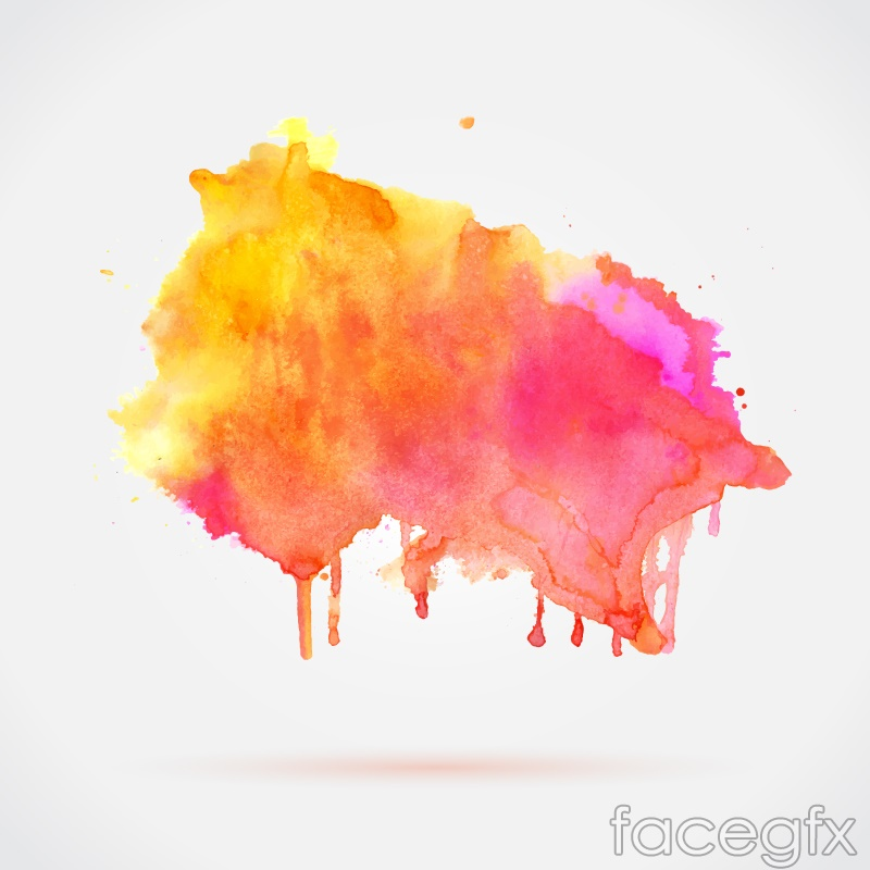 Colorful watercolor ink vector | Free download