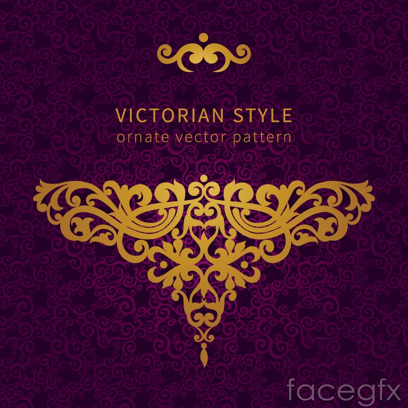 ... Background gold victorian pattern background vector free download