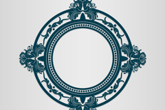 Fine pattern ring cutting pattern vector